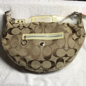 Large Coach purse in Signature Jacquard print
